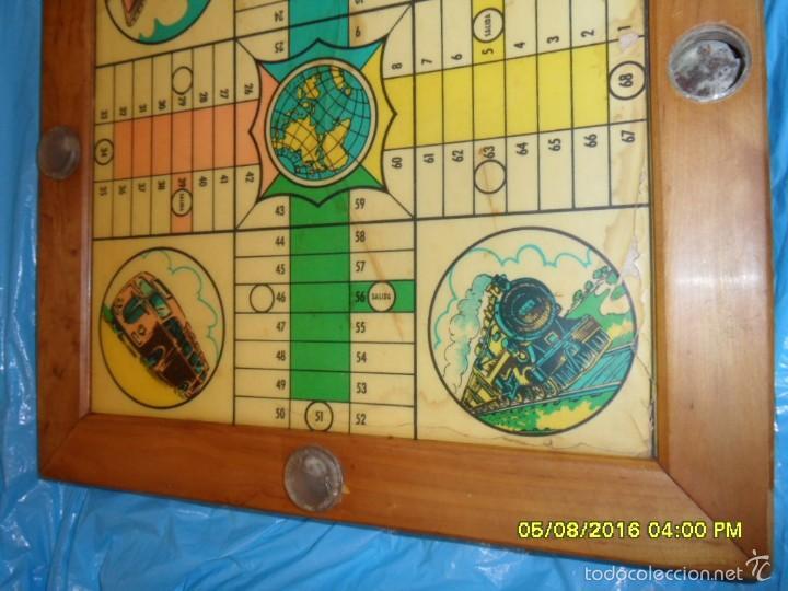 Juegos de mesa: MUY ANTIGUO JUEGO DE PARCHIS Y DE LA OCA DE MADERA TREN AVION BARCO AUTOBUS - Foto 10 - 58435897