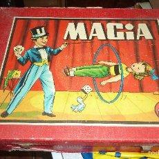 Juegos de mesa: ANTIGUA CAJA DE MADERA MAGIA BORRAS Nº 2 BONITA LITOGRAFIA SABATES 40 / 31 / 9 CM - SOLO CAJA -. Lote 58542216