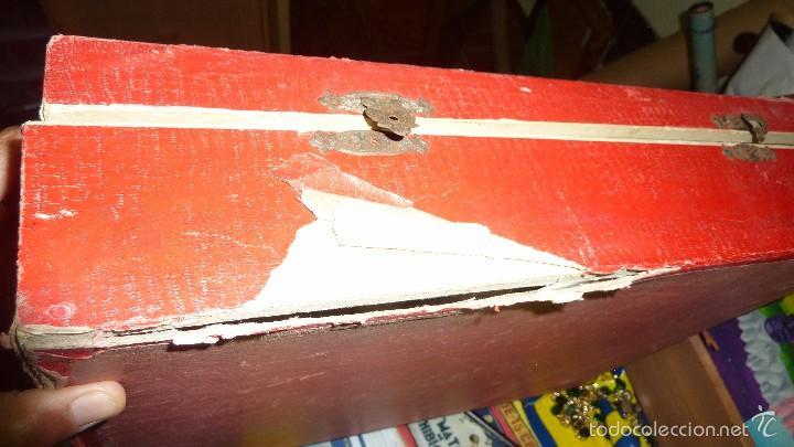 Juegos de mesa: antigua caja de madera magia borras nº 2 bonita litografia sabates 40 / 31 / 9 cm - solo caja - - Foto 3 - 58542216