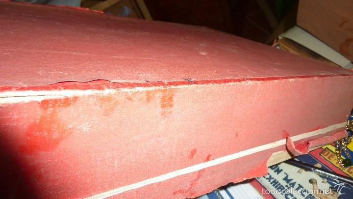 Juegos de mesa: antigua caja de madera magia borras nº 2 bonita litografia sabates 40 / 31 / 9 cm - solo caja - - Foto 5 - 58542216
