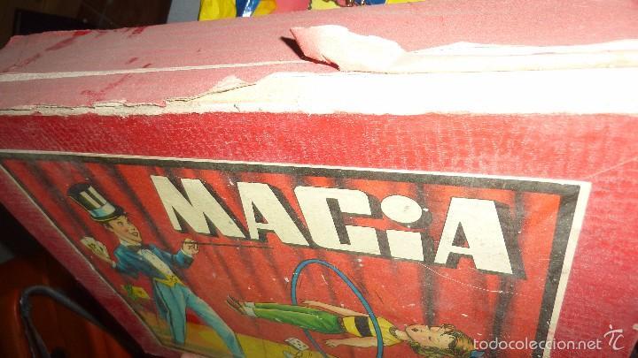 Juegos de mesa: antigua caja de madera magia borras nº 2 bonita litografia sabates 40 / 31 / 9 cm - solo caja - - Foto 6 - 58542216