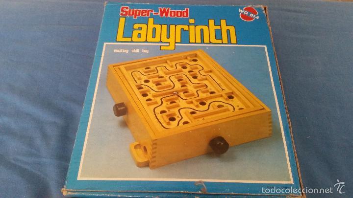 LABYRINTH - SUPER WOOD - LABERINTO MADERA - COMPLETO - WQ 014 (Juguetes - Juegos - Juegos de Mesa)