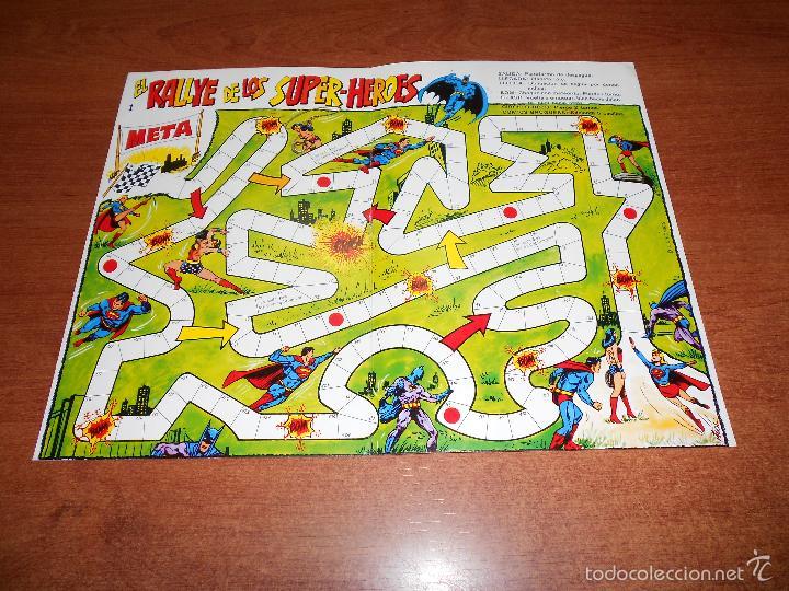Juego De Mesa Anos 80 El Rallye De Los Superher Comprar Juegos De