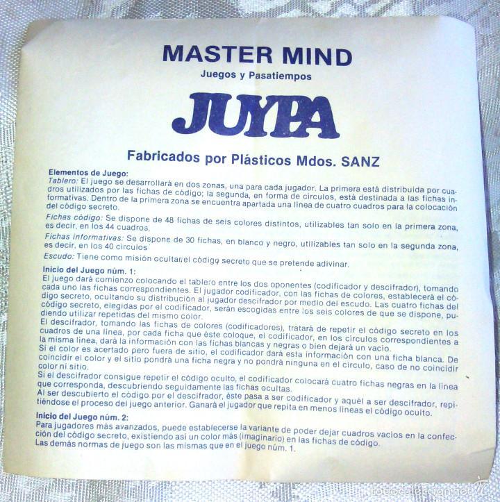 Juegos de mesa: Juego Magnético de Mesa Master Mind. Antiguo, para Viaje. Años 70. Para toda la Familia. - Foto 3 - 59451030