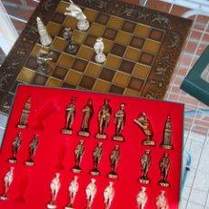 Juegos de mesa: JUEGO AJEDREZ, TABLERO Y FICHAS METALICAS. Lote 59494985