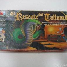 Juegos de mesa: JUEGO DE MESA EL RESCATE DEL TALISMÁN DE MB 1991. INCOMPLETO. Lote 195372508