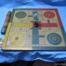 Juegos de mesa: ANTIGUA ANTIGUO PIEZA DE MUSEO ETNOGRAFICA PARCHIS DE LATA METALGRAFICA SA TINTORE Y OLLER BARCELONA. Lote 60192695
