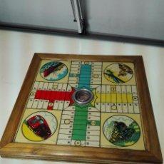 Juegos de mesa: ANTIGUO PARCHIS DE MADERA - DECORACIÓN MEDIOS DE TRANSPORTE - 35 X 35 CM - . Lote 60207139