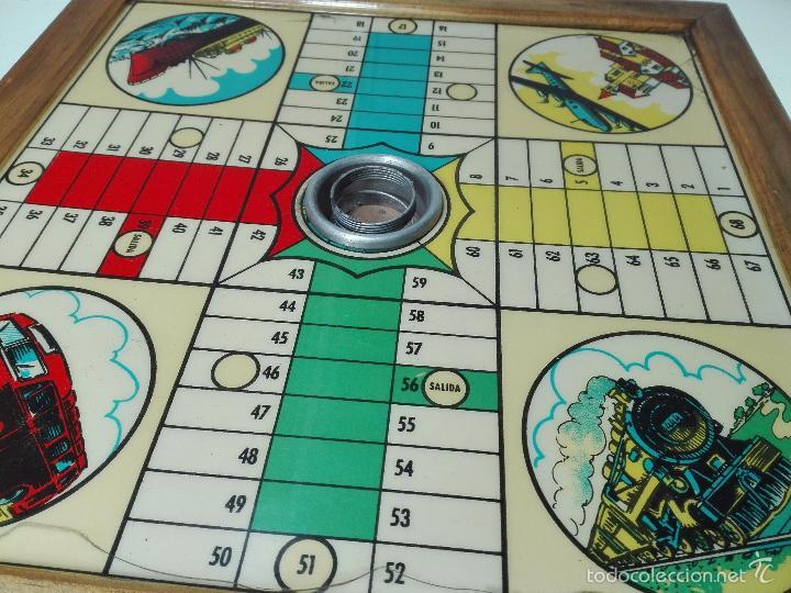 Juegos de mesa: ANTIGUO PARCHIS DE MADERA - DECORACIÓN MEDIOS DE TRANSPORTE - 35 X 35 CM - - Foto 2 - 60207139
