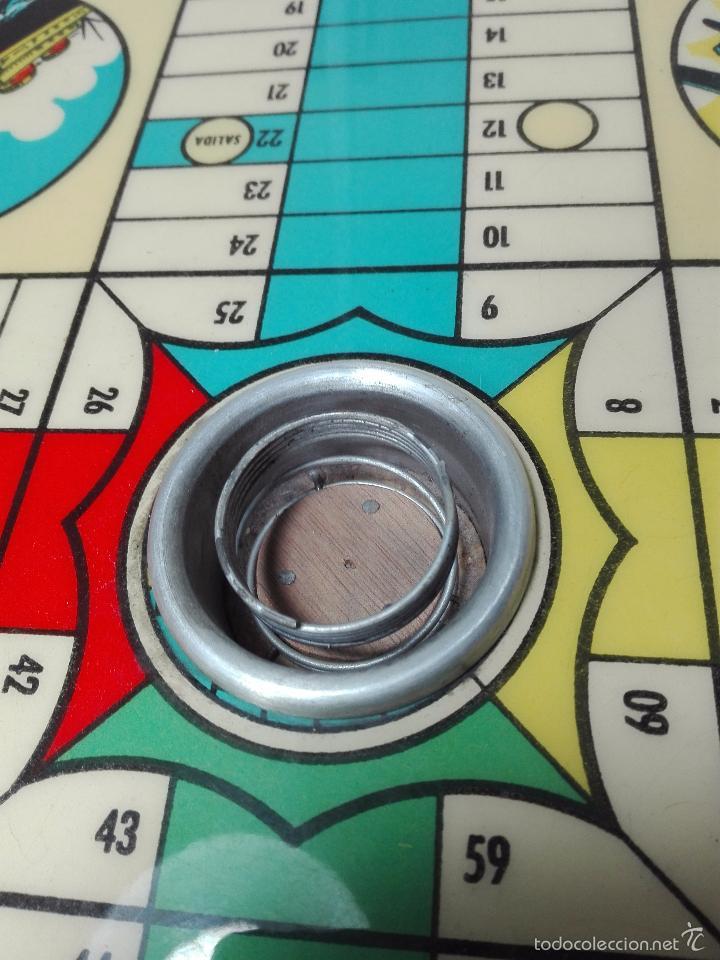 Juegos de mesa: ANTIGUO PARCHIS DE MADERA - DECORACIÓN MEDIOS DE TRANSPORTE - 35 X 35 CM - - Foto 4 - 60207139