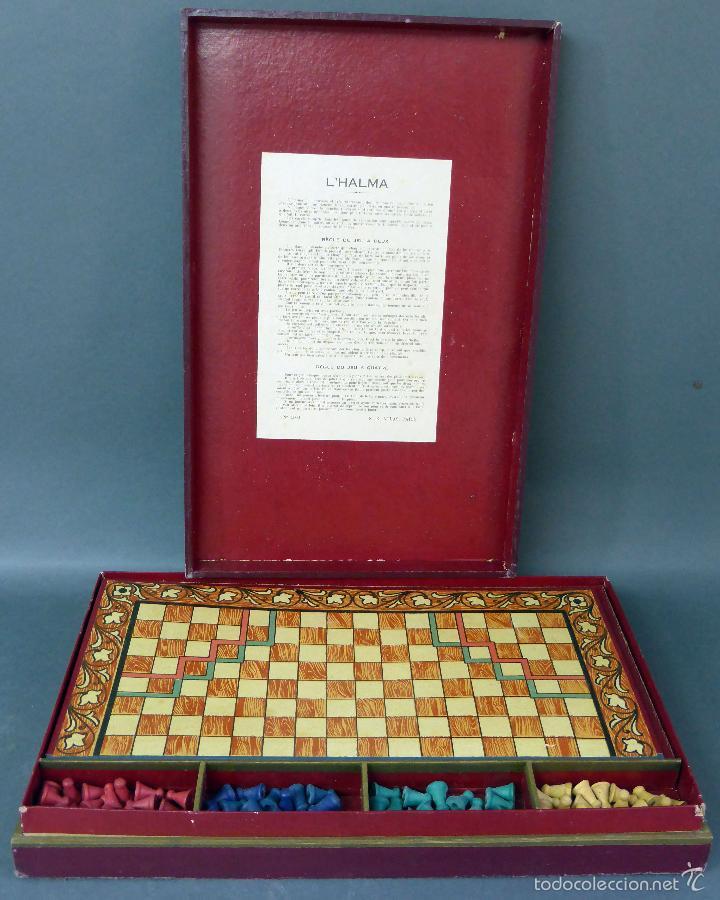 Juegos de mesa: Halma juego mesa francés estrategia tablero peones y reglas juego años 30 - Foto 3 - 61005051