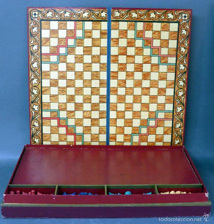 Juegos de mesa: Halma juego mesa francés estrategia tablero peones y reglas juego años 30 - Foto 4 - 61005051