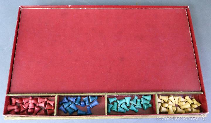 Juegos de mesa: Halma juego mesa francés estrategia tablero peones y reglas juego años 30 - Foto 5 - 61005051