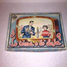 Juegos de mesa: LO TOMA O LO DEJA. ANTIGUO JUEGO DE MESA. Lote 61030471