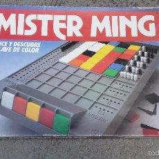 Juegos de mesa: MISTER MING - DEDUCE Y DESCUBRE LA CLAVE DE COLOR AÑO 1989 COMPLETO. CEFA. Lote 61162983