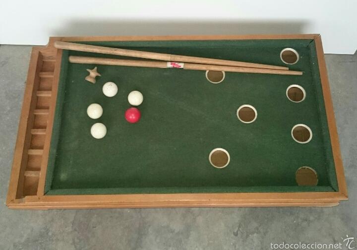 Juegos de mesa: ANTIGUO BILLAR INFANTIL - Foto 5 - 61300775