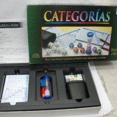 Juegos de mesa: BORRAS - JUEGO DE MESA CATEGORÍAS. Lote 61884032