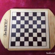 Juegos de mesa: AJEDREZ, DAMAS Y DOMINO DE MADERA. Lote 62220840