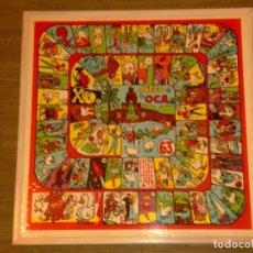 Juegos de mesa: ANTIGUO TABLERO OCA Y PARCHIS AÑOS 50/60'S CARICATURAS DE DI STEFANO, KUBALA Y OTROS. Lote 62394324