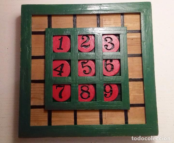 Antiguo Sudoku De Madera Artesanal Para Ninos Comprar Juegos De