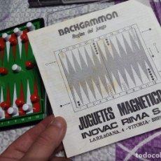 Juegos de mesa: JUEGO MAGNÉTICO INNOVAC RIMA BACKGAMMON. Lote 62690644