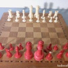 Juegos de mesa: ANTIGUAS FICHAS DE AJEDREZ COMPLETO. Lote 63108264