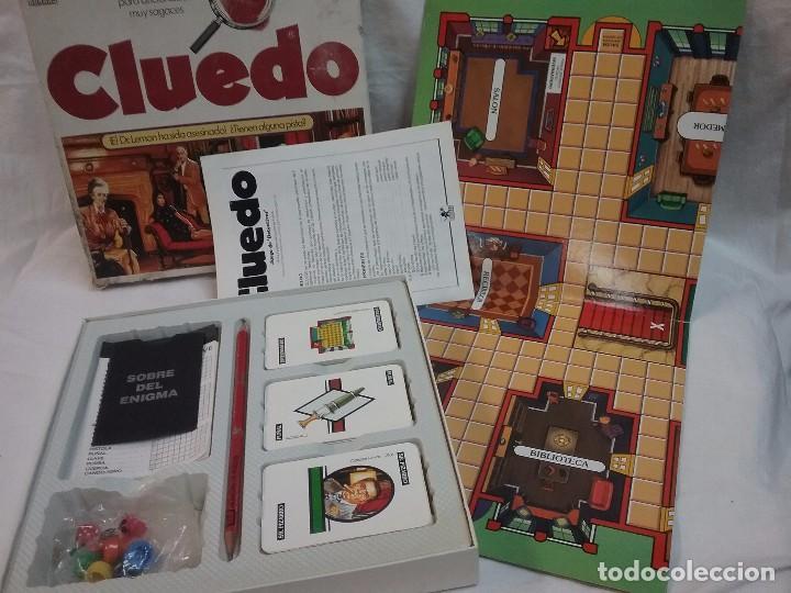 ANTIGUO JUEGO DE MESA - EL CLUEDO - DE BORRAS - COMPLETO (Juguetes - Juegos - Juegos de Mesa)