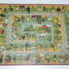 Juegos de mesa: JUEGO DE LA OCA (PROBABLEMENTE CATALÁN Y DE PRINCIPIOS DEL SIGLO XX), MIDE 36 X 26,5 CM. TAL Y COMO . Lote 63612331