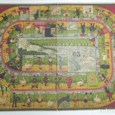Juegos de mesa: JUEGO DE LA OCA CON PRECIOSAS ILUSTRACIONES, TABLERO REALIZADO EN CARTON MARCA PC S.A., MIDE 33 X 24. Lote 63611775