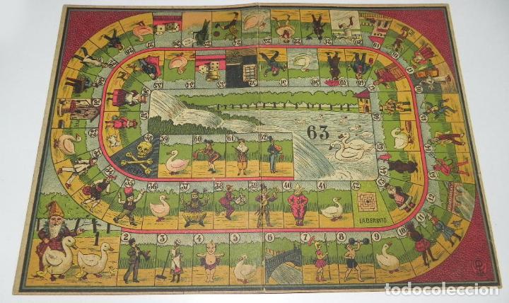 Juegos de mesa: JUEGO DE LA OCA CON PRECIOSAS ILUSTRACIONES, TABLERO REALIZADO EN CARTON MARCA PC S.A., MIDE 33 X 24 - Foto 2 - 63611775