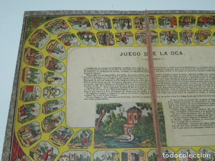 Juegos de mesa: Juego de la oca (probablemente catalán y de principios del siglo XX), Mide 36 x 26,5 cm. Tal y como - Foto 2 - 63615271
