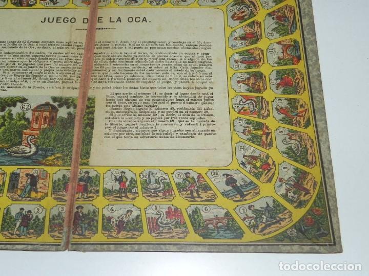 Juegos de mesa: Juego de la oca (probablemente catalán y de principios del siglo XX), Mide 36 x 26,5 cm. Tal y como - Foto 3 - 63615271