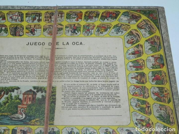 Juegos de mesa: Juego de la oca (probablemente catalán y de principios del siglo XX), Mide 36 x 26,5 cm. Tal y como - Foto 4 - 63615271