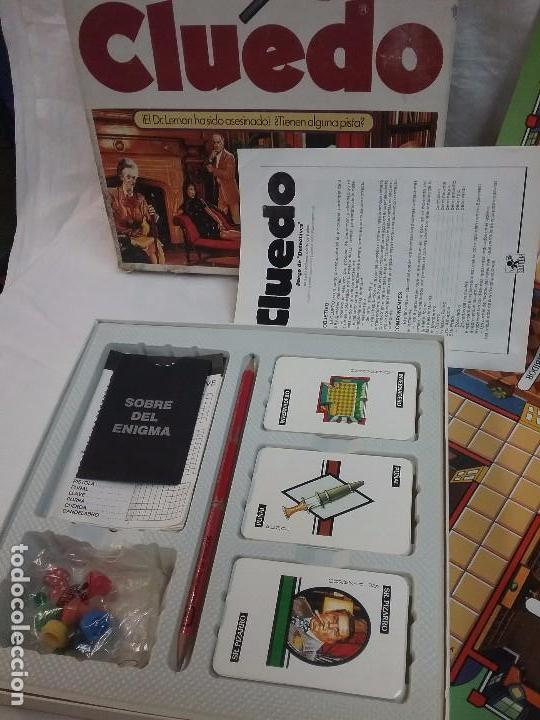 Juegos de mesa: ANTIGUO JUEGO DE MESA - EL CLUEDO - DE BORRAS - COMPLETO - Foto 2 - 63372632