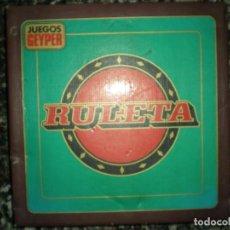 Juegos de mesa: RULETA GRANDE EN BAQUELITA MARCA GEYPER CAJA AZUL AÑOS 70 SIN USO NUEVA 35 CM. Lote 63700951