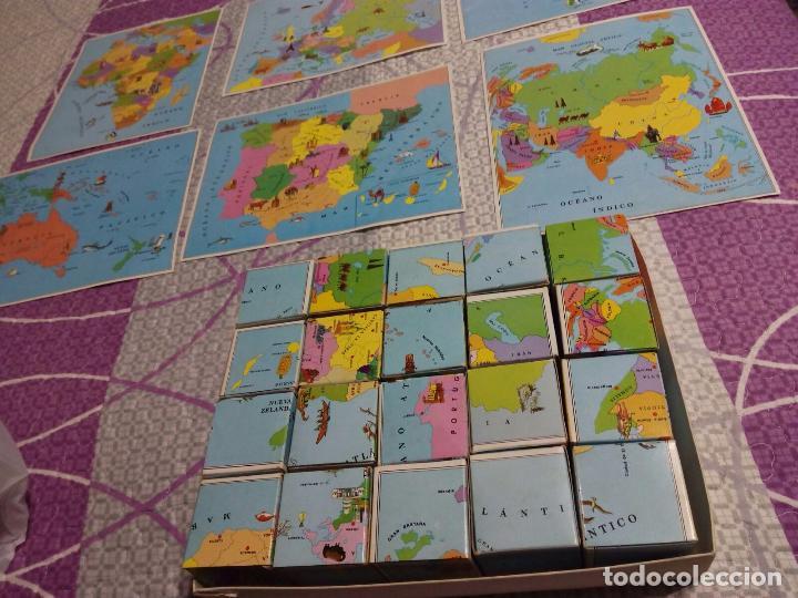 Juegos de mesa: Antiguo Juego cubos geograficos BORRAS (Completo con Láminas) - Foto 3 - 64676107