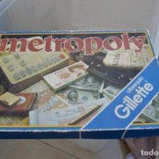 Juegos de mesa: JUEGO DE MESA METROPOLY OBSEQUIO DE GILLETTE . Lote 65789162