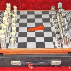 Juegos de mesa: AJEDREZ. FICHAS EN ACERO INOXIDABLE Y RESINA. NOVA-INOX. BARCELONA. CIRCA 1960.. Lote 66299538