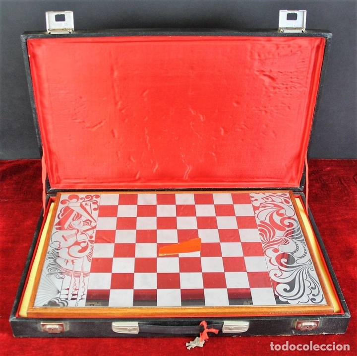 Juegos de mesa: AJEDREZ. FICHAS EN ACERO INOXIDABLE Y RESINA. NOVA-INOX. BARCELONA. CIRCA 1960. - Foto 13 - 66299538