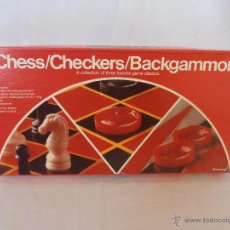 Juegos de mesa: JUEGO DE MESA CHESS CHECKERS BACKGAMMON PRESSMAN. Lote 67046622