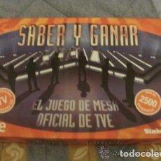 Juegos de mesa: SABER Y GANAR JUEGO OFICIAL CON 2500 PREGUNTAS. Lote 67673677