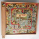 Juegos de mesa: ANTIGUO JUEGO DE OCA Y PARCHÍS CON FICHAS. Lote 68005441