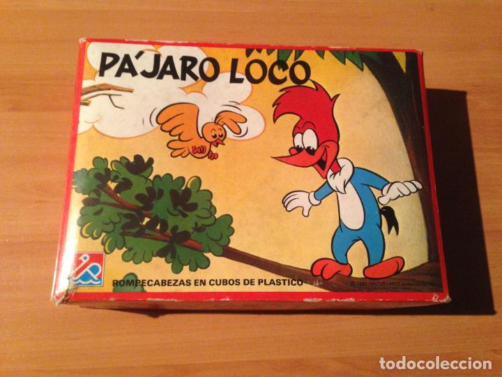 ANTIGUO PUZZLE ROMPECABEZAS EN CUBOS PLASTICO EL PAJARO LOCO DALMAU REF 684 (Juguetes - Juegos - Juegos de Mesa)