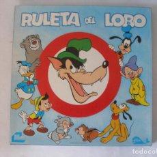 Juegos de mesa: RULETA DEL LOBO WALT DISNEY ESCANDIA SERIE CETUS AÑO 1979, SIN USO. Lote 68246737