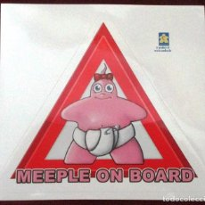 Juegos de mesa: CARCASSONNE STICKER MEEPLE ON BOARD NIÑA. Lote 68508145