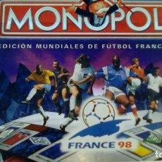Juegos de mesa: MONOPOLIY MUNDIAL FRANCIA 98. Lote 69236809