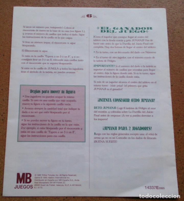 Instrucciones Juego De Mesa Jumanji De Mb Comprar Juegos De Mesa