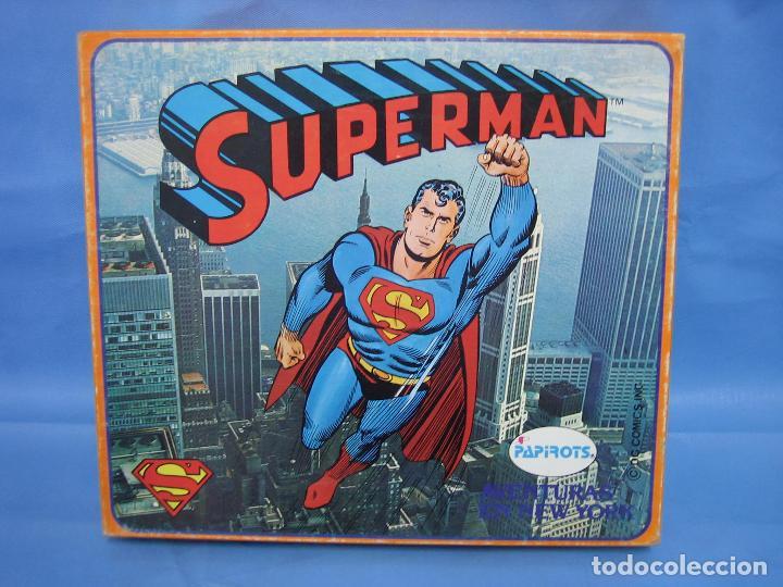 3 JUEGO SUPERMAN DE PAPIROTS. NO JUGADO (Juguetes - Juegos - Juegos de Mesa)
