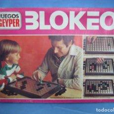 Juegos de mesa: 14 JUEGO DE MESA BLOKEO DE JUEGOS GEYPER. COMPLETO. Lote 70115105
