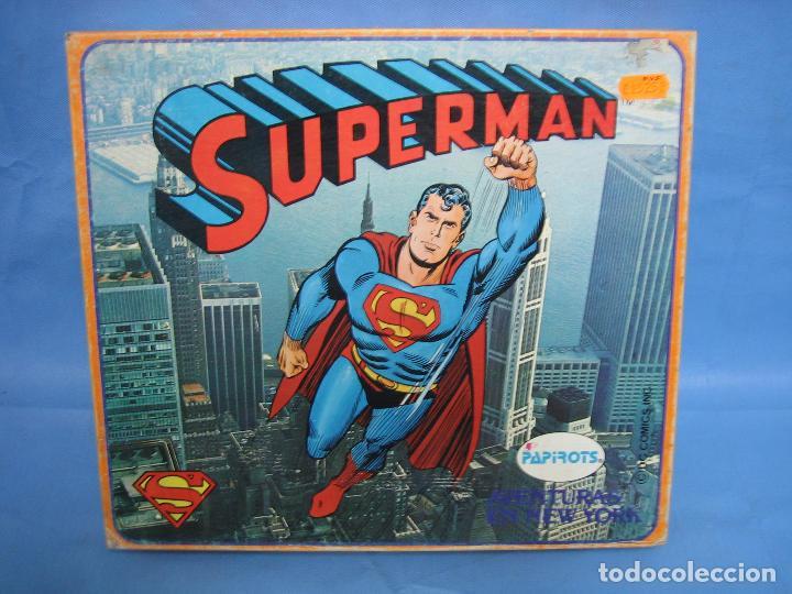 14 JUEGO DE MESA SUPERMAN DE PAPIROTS. INCOMPLETO (Juguetes - Juegos - Juegos de Mesa)
